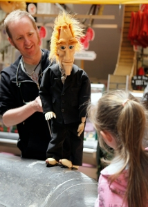watching kids interact with the puppets is always great; they're so engaged!