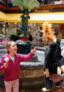 Katie Keegan gets all up in Eamonn High's face during an encounter in Cork's English Market